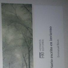 Coleccionismo Marcapáginas: MARCAPÁGINAS EDITORIAL HERMIDA.DIARIO ESCRITO EN INVIERNO-. Lote 194923047