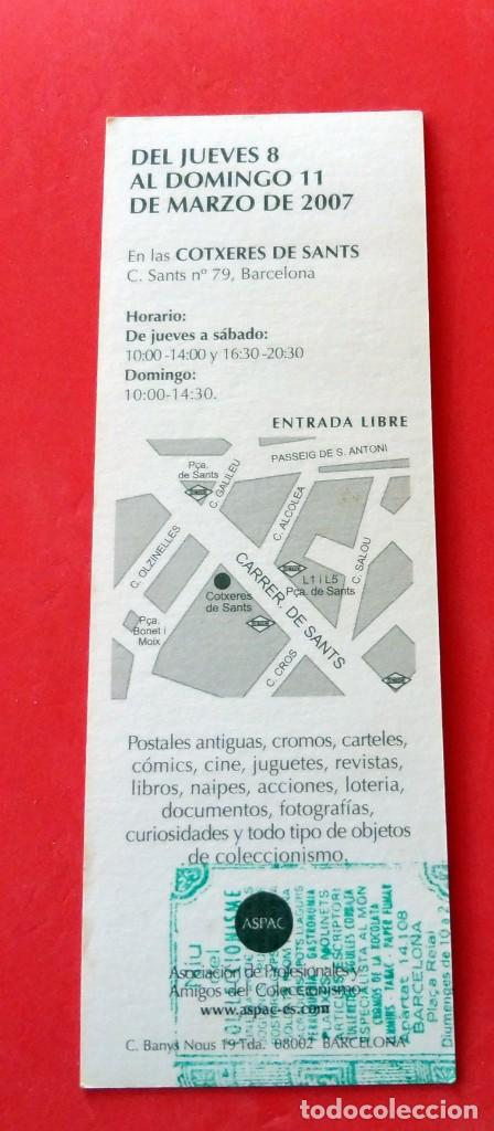 Coleccionismo Marcapáginas: MARCAPÁGINAS - PAPERANTIC - BARCELONA - 2007 - Foto 2 - 149459206
