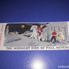 Coleccionismo Marcapáginas: THE MIDNIGHT RIDE OF PAUL REVERE. Lote 149857366