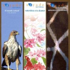 Coleccionismo Marcapáginas: 3 MARCAPÁGINAS EDITORIAL NAYADE. Lote 151638866