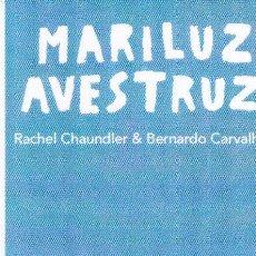 Coleccionismo Marcapáginas: MARCAPAGINAS: MARILUZ AVESTRUZ - EDITORIAL OQO. Lote 236567980