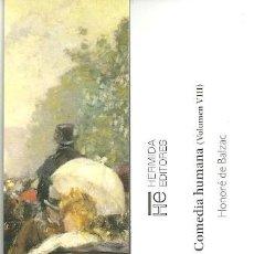 Coleccionismo Marcapáginas: MARCAPAGINAS. HERMIDA EDITORES. HONORE DE BALZAC. LA COMEDIA HUMANA (VOLUMEN VIII). Lote 156891761