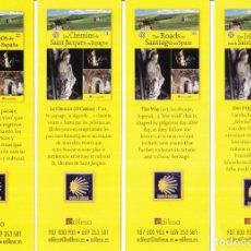 Colecionismo Marcadores de página: 4 MARCAPAGINAS: LOS CAMINOS DE SANTIAGO - EDITORIAL EDILESA - EN CUATRO IDIOMAS DISTINTOS. Lote 223903348