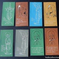 Coleccionismo Marcapáginas: 8 MARCAPAGINAS AÑO 1962 / PARA LIBROS RELIGIOSOS / DE COMUNION / MISALES. Lote 154441434