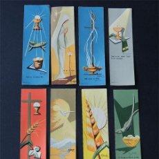 Coleccionismo Marcapáginas: 8 MARCAPAGINAS AÑOS 60 / PARA LIBROS RELIGIOSOS / DE COMUNION / MISALES. Lote 154441626