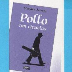 Coleccionismo Marcapáginas: MARCAPÁGINAS DE EDICIONES DE NORMA PUBLICIDAD POLLO CON CIRUELAS. Lote 155611822
