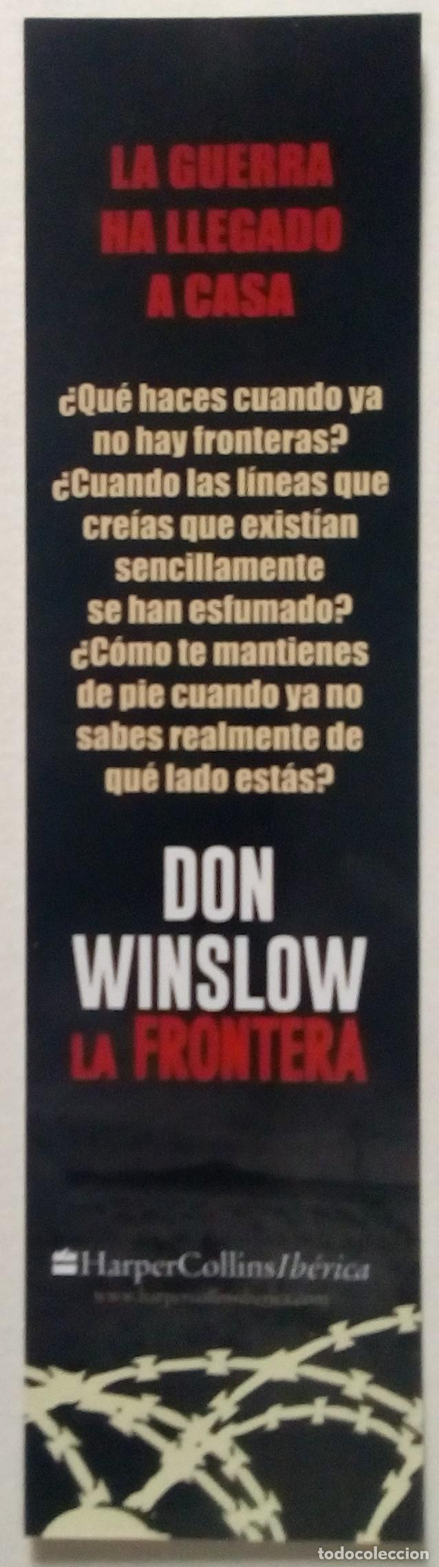 MARCAPÁGINAS EDITORIAL HARPER COLLINS-LA FRONTERA..DON WINSLOW-  (Coleccionismo - Marcapáginas ...