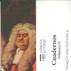 Coleccionismo Marcapáginas: MARCAPAGINAS. HERMIDA EDITORES. GEORG CHRISTOPH LICHTENBERG. CUADERNOS. VOLUMEN IV. Lote 156899628