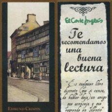 Coleccionismo Marcapáginas: MARCAPÁGINAS EDITORIAL IMPEDIMENTA - CORTE INGLES. Lote 156751518