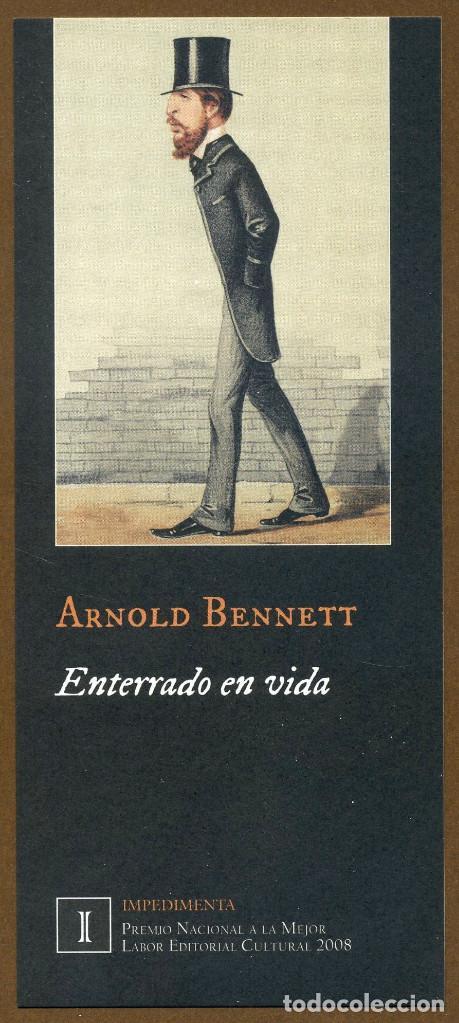 MARCAPÁGINAS EDITORIAL IMPEDIMENTA ENTERRADO EN VIDA (Coleccionismo - Marcapáginas)