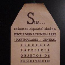 Coleccionismo Marcapáginas: 1 MARCAPAGINAS ANTIGUO DE ** SELECCIONES JAIMES ** OBJETOS DE ESCRITORIO. Lote 156859682