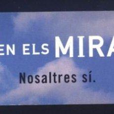 Coleccionismo Marcapáginas: A-6869- PUNTO DE LIBRO. MARCAPÁGINAS. CARITAS. CREUS EN ELS MIRACLES?. Lote 156887986