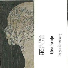 Coleccionismo Marcapáginas: MARCAPAGINAS. HERMIDA EDITORES. AUGUST STRINDBERG. UNA BRUJA. Lote 156892178