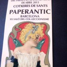 Coleccionismo Marcapáginas: MARCAPAGINAS PAPERANTIC XX SALÓN DEL COLECCIONISMO. Lote 272813368