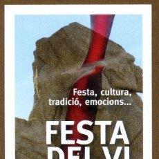 Coleccionismo Marcapáginas: MARCAPÁGINAS FESTA DEL VI NOU 2013 - SANT ANTONI CALONGE. Lote 195423853