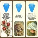 Coleccionismo Marcapáginas: 3 MARCAPÁGINAS TROQUELADO - RELIGION. Lote 159794218