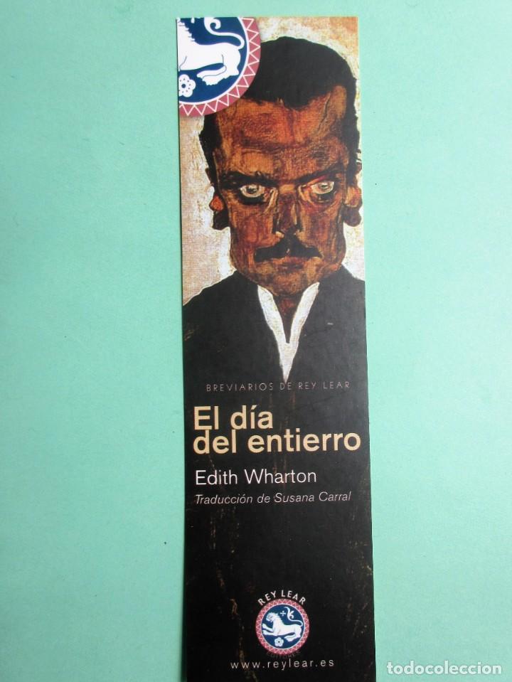 MARCAPAGINAS EDITORIAL REY LEAR EL DIA DEL INTIERRO (Coleccionismo - Marcapáginas)