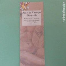 Coleccionismo Marcapáginas: MARCAPAGINAS EDITORIAL REINO DE CORDELIA ANTE UN CUERPO DESNUDO. Lote 195051221