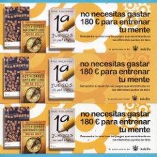 Coleccionismo Marcapáginas: TRES MARCAPÁGINAS DE EDICIONES DE RBA PUBLICIDAD DE NO NECESITAS GASTAR 180 € PARA ENTRENAR TU MENTE. Lote 164144446