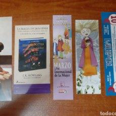 Coleccionismo Marcapáginas: 5 MARCAPÁGINAS VARIOS. Lote 164283808