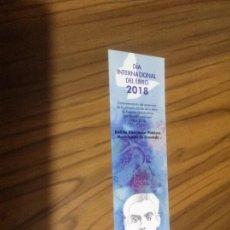 Coleccionismo Marcapáginas: MARCAPAGINAS LITERARIO. DIA INTERNACIONAL DEL LIBRO 2018. GRANADA. BUEN ESTADO. DOBLE CARA. RARO. Lote 166657310