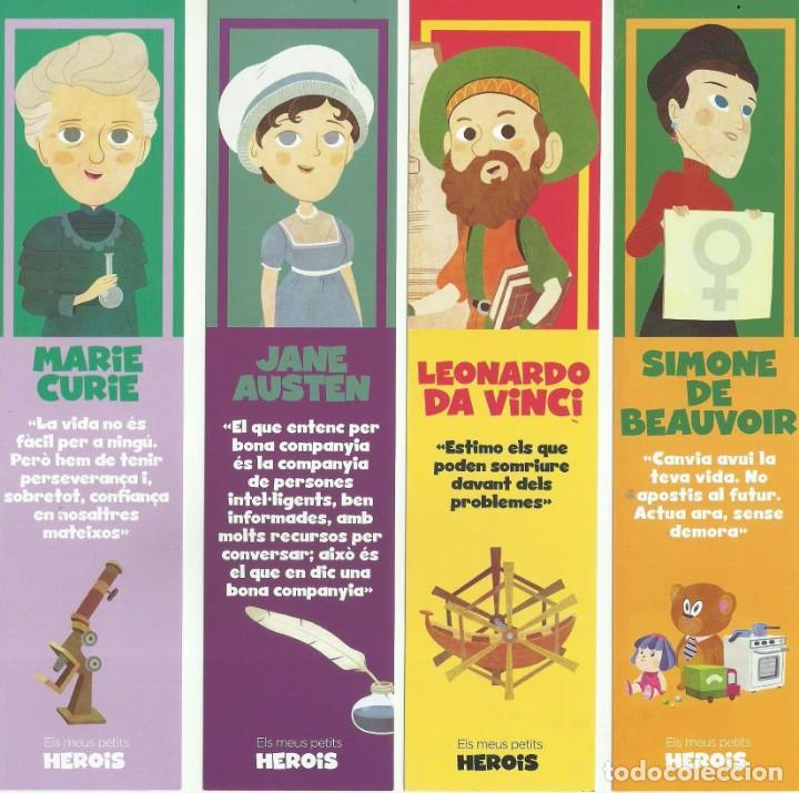 SERIE 8 MARCAPAGINAS EDITORIAL MIS PEQUEÑOS HEROES (Coleccionismo - Marcapáginas)