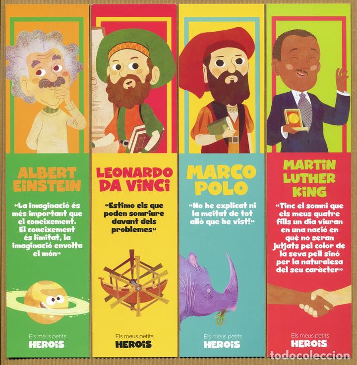 8 MARCAPÁGINAS MIS PEQUEÑOS HEROES - CAT (Coleccionismo - Marcapáginas)