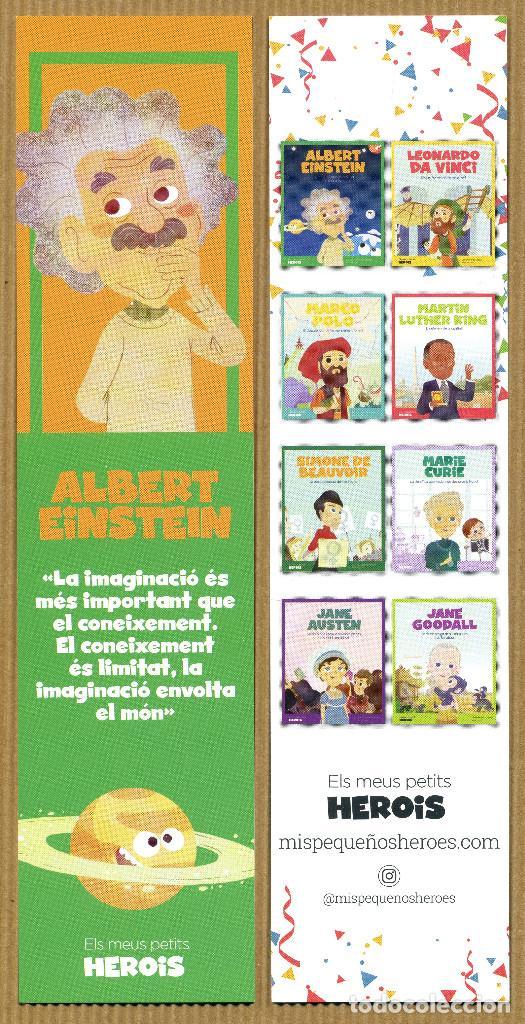 MARCAPÁGINAS MIS PEQUEÑOS HEROES ALBERT EINSTEIN - CAT (Coleccionismo - Marcapáginas)