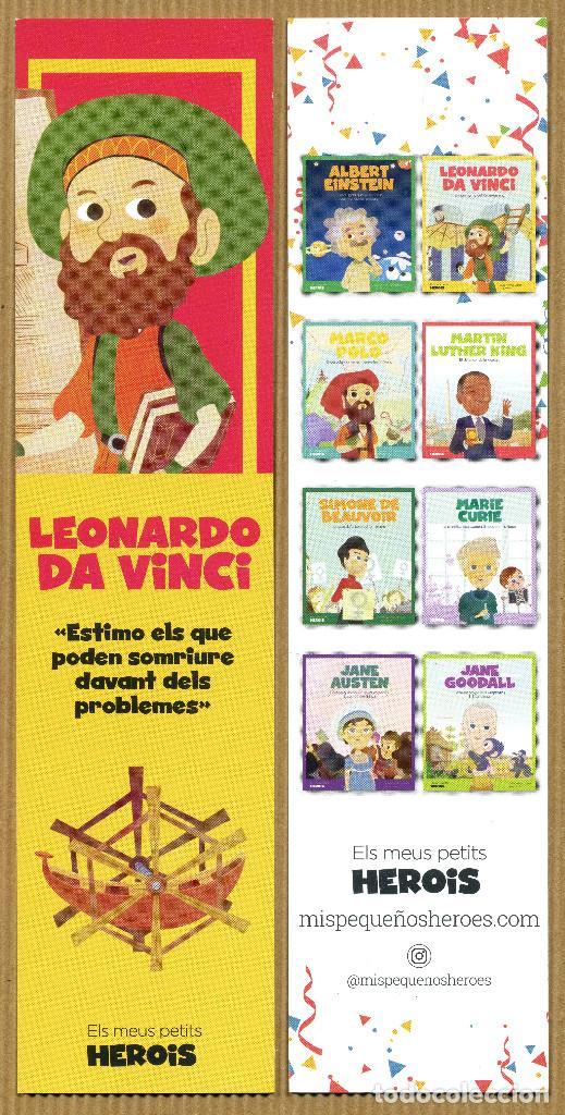 MARCAPÁGINAS MIS PEQUEÑOS HEROES LEONARDO DA VINCI - CAT (Coleccionismo - Marcapáginas)