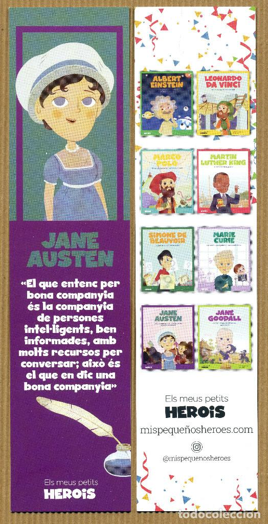 MARCAPÁGINAS MIS PEQUEÑOS HEROES JANE AUSTEN - CAT (Coleccionismo - Marcapáginas)
