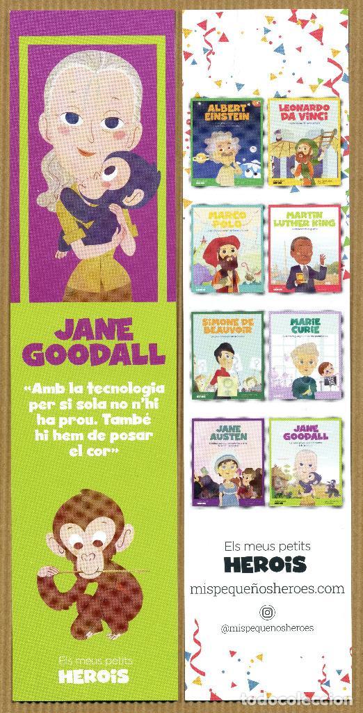 MARCAPÁGINAS MIS PEQUEÑOS HEROES JANE GOODALL - CAT (Coleccionismo - Marcapáginas)