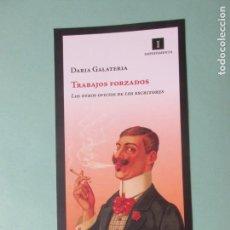 Coleccionismo Marcapáginas: MARCAPAGIMAS EDITORIAL IMPEDIMENTA TRABAJOS FORZADOS FORMATO POSTAL. Lote 171891878