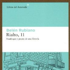 Coleccionismo Marcapáginas: MARCAPAGINAS POSTAL LIBROS DEL ASTEROIDE BELEN RUBIANO RIALTO 11. Lote 244877045