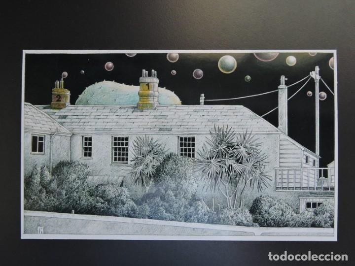MARCAPÁGINAS TAMAÑO POSTAL - ILUSTRADOR EINAR TURKOWSKI - BURBUJAS DE NOCHE (Coleccionismo - Marcapáginas)