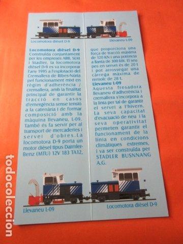 Coleccionismo Marcapáginas: NURIA CREMALLERA FUNICULAR HISTORIA Y DATOS TECNICOS QUITANIEVES L09 LOCOMOTORA D9 MARCAPAGINAS - Foto 2 - 173081243