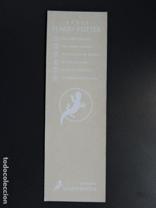 Coleccionismo Marcapáginas: MARCAPÁGINAS - SALAMANDRA - HARRY POTTER - Foto 2 - 176551674