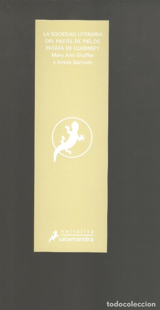 Coleccionismo Marcapáginas: 1 marcapagina punto de libro salamandra - Foto 2 - 177949484