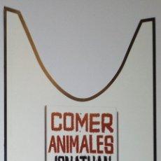 Coleccionismo Marcapáginas: MARCAPÁGINAS EDITORIAL SEIX BARRAL .COMER ANIMALES- JONATHAN SAFRAN FOER. Lote 177960993