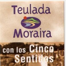 Coleccionismo Marcapáginas: MARCAPAGINAS TEULADA - MORAIRA. Lote 178212655