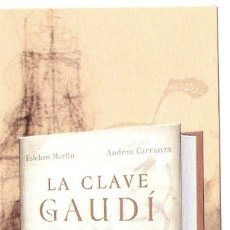 Coleccionismo Marcapáginas: MARCAPAGINAS PLAZA Y JANES - LA CLAVE GAUDÍ. Lote 180157962