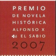 Coleccionismo Marcapáginas: MARCAPAGINAS PREMIO NOVELA HISTORICA ALFONSO X EL SABIO 2007. Lote 180158486