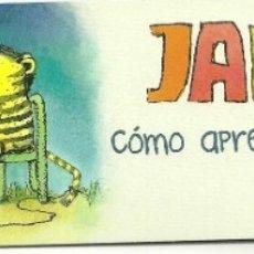 Coleccionismo Marcapáginas: MARCAPÁGINAS. PATIO EDITORIAL. JANOSCH. CÓMO APRENDIÓ A COMER EL TIGRE. Lote 180164093