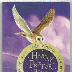 Coleccionismo Marcapáginas: MARCAPÁGINAS. HARRY POTTER BOOK NIGHT. COLEGIO HOGWARTS DE MAGIA Y HECHICERÍA EN EL CORTE INGLÉS. Lote 181402761