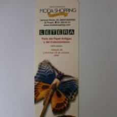 Coleccionismo Marcapáginas: MARCAPAGINAS LETERA MADRID 2006 NEVO. Lote 182076200