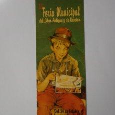 Coleccionismo Marcapáginas: MARCAPAGINAS FERIA DEL LIBRO ANTIGUO DE SALAMANCA 2015 NUEVO. Lote 182076315