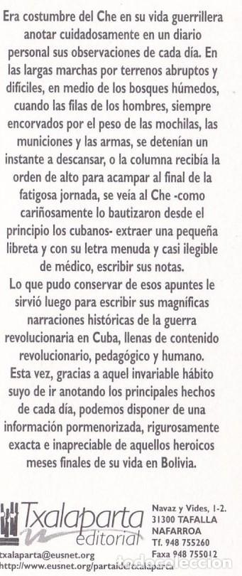 Coleccionismo Marcapáginas: MARCAPAGINAS TXALAPARTA. DIARIO DE BOLIVIA. CHE GUEVARA - Foto 2 - 182643687