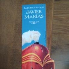 Coleccionismo Marcapáginas: MARCAPÁGINAS JAVIER MARIAS ALFAGUARA TU ROSTRO MAÑANA 2 BAILE Y SUEÑO. Lote 182853913
