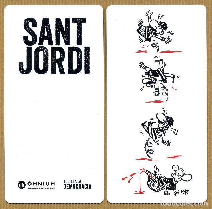 MARCAPÁGINAS SANT JORDI OMNIUN JUDICI A LA DEMOCRACIA (Coleccionismo - Marcapáginas)