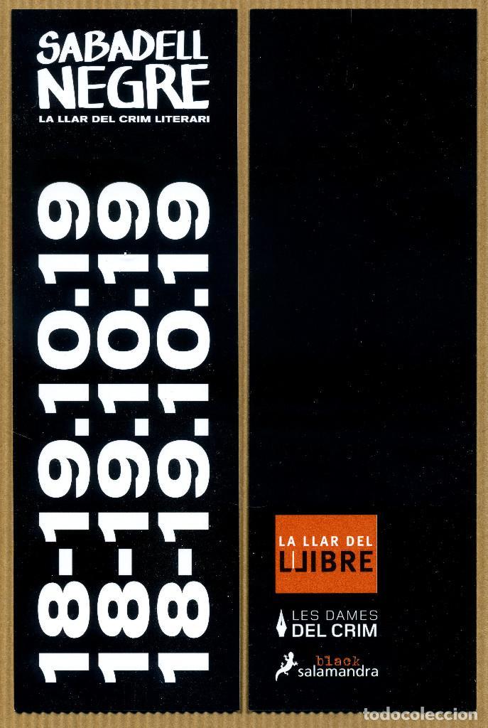 MARCAPÁGINAS ED. SALAMANDRA SABADELL NEGRE 2019 (Coleccionismo - Marcapáginas)