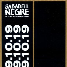 Collectionnisme Marque-pages: MARCAPÁGINAS ED. SALAMANDRA SABADELL NEGRE 2019. Lote 243902770